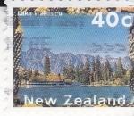 Sellos de Oceania - Nueva Zelanda -  paisaje-lago Walkatipu
