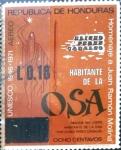 Stamps : America : Honduras :  Intercambio 0,20 usd 18 sobre 8 cent. 1975