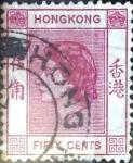 Sellos del Mundo : Asia : Hong_Kong : Intercambio 0,25 usd 50 cent. 1954
