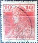 Sellos del Mundo : Europa : Hungría : Intercambio 0,20  usd 10 f. 1918