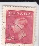 Stamps : America : Canada :  rey George VI