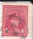 Sellos de America - Canadá -  rey George VI