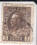 Stamps : America : Canada :  rey George V