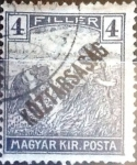 Sellos del Mundo : Europa : Hungría : Intercambio 0,20  usd 4 f. 1918
