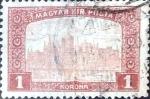 Stamps : Europe : Hungary :  Intercambio 0,20  usd 1 korona 1916