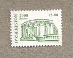 Stamps Asia - Uzbekistan -  Edificio