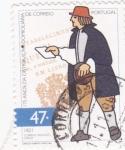 Sellos de Europa - Portugal -  175 años de la distribución domiciliaria de correo