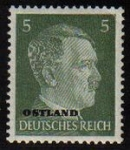Sellos del Mundo : Europa : Alemania : DEUTSCHES REICH 1941 Scott509 SELLO ADOLF HITLER NUEVO Ostland ALEMANIA Michel784