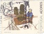 Sellos de Europa - Portugal -  artesanía- AÇORES