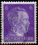 Sellos de Europa - Alemania -  DEUTSCHES REICH 1941 Scott510 SELLO ADOLF HITLER ALEMANIA Michel785 Usado