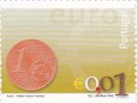 Stamps Portugal -  moneda de € 0,01