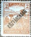 Stamps Hungary -  Intercambio 0,20 usd 2 f. 1918