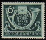 Sellos de Europa - Alemania -  DEUTSCHES REICH 1944 ScottB288 Sello Nuevo Post Horn And Letter Cuerno Postal y Carta Alemania