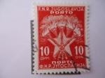 Stamps Europe - Yugoslavia -  F.N.R. Jugoslavija - Porto. Antorchas y estrella.
