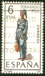 Stamps of the world : Spain :  trajes tipicos de España.
