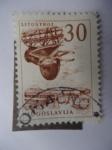 Stamps Yugoslavia -  Litostroj - Astillero-Progreso Industrial.