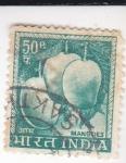Sellos de Asia - India -  fruta-mango