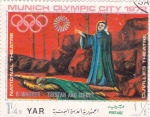 Stamps Yemen -  teatro nacional- Munich Olimpiada-72