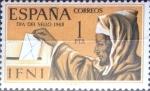 Stamps Spain -  Intercambio jxi 0,20 usd 1 peseta 1968