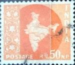 Stamps : Asia : India :  Intercambio 0,20 usd 50 np. 1957