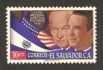 Stamps : America : El_Salvador :  656 - El presidente Lemus con Eisenhower, en visita a Estados Unidos