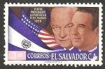 Stamps : America : El_Salvador :  El presidente Lemus con Eisenhower, en visita a Estados Unidos