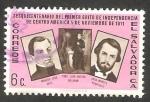 Stamps : America : El_Salvador :  671-150 anivº del primer grito de Independencia de Centro América, Manuel José Arce, JoséMatias De