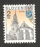 Stamps : Europe : Slovakia :  184 - Vista de la ciudad de Nitra