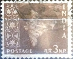 Stamps : Asia : India :  Intercambio 0,20 usd 3 np. 1957