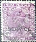 Sellos de Asia - India -  Intercambio 0,20 usd 1 a. 3 p. 1932