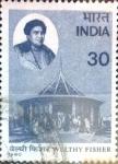 Sellos de Asia - India -  Intercambio crf 0,35 usd 30 p. 1980