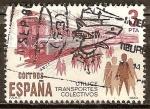Sellos de Europa - España -  Transporte público.(Tren Eléctrico).