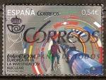 Sellos de Europa - España -  60 AÑOS INVESTIGACIÓN NUCLEAR .