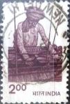 Stamps : Asia : India :  Intercambio 0,65 usd 2 r. 1980