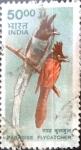 Stamps India -  Intercambio 2,10 usd 50 r. 2000