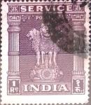 Stamps : Asia : India :  Intercambio 0,40 usd 1 r. 1950