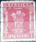 Sellos del Mundo : Asia : India : Intercambio 0,40 usd 2 r. 1950