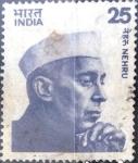 Stamps : Asia : India :  25 p. 1976