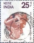 Sellos del Mundo : Asia : India : Intercambio 0,50 usd 25 p. 1974