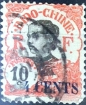 Stamps : Europe : France :  Intercambio 0,55 usd 10 sobre 4 cent. 1919
