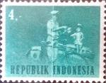 Stamps : Asia : Indonesia :  Intercambio 0,20 usd 4 r. 1964