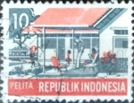 Stamps : Asia : Indonesia :  Intercambio 0,20 usd 10 r. 1969