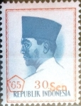 Stamps Indonesia -  Intercambio 0,20 usd 30 s. sobre 30 r. 1965