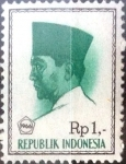 Stamps Indonesia -  Intercambio 0,20 usd 1 rp. 1966