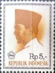 Stamps Indonesia -  Intercambio 0,20 usd 5 rp. 1966