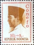 Stamps : Asia : Indonesia :  Intercambio 0,20 usd 10 + 5 rp. 1965