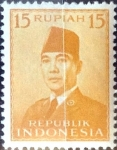Stamps : Asia : Indonesia :  Intercambio 0,20 usd 15 rp. 1953