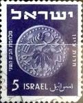 Sellos de Asia - Israel -  Intercambio 0,20 usd 5 p. 1949