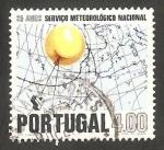 Sellos de Europa - Portugal -   1127 - 25 anivº del Servicio Metereológico Nacional
