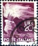 Stamps : Europe : Italy :  Intercambio 0,20 usd 20 liras 1945